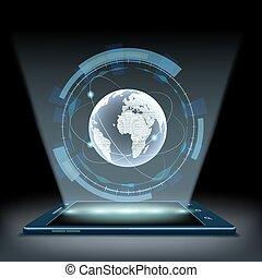 hologram Planet Earth