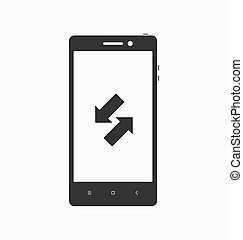 Smartphone with application icon on screen.