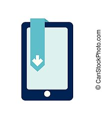 smartphone with arrow download