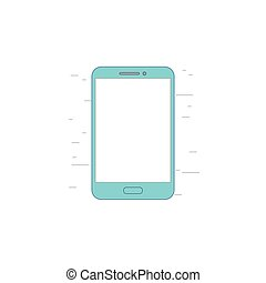 Smartphone with blank screen icon or illustration in outline style