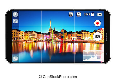 Smartphone with camera app