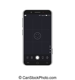 Smartphone with camera overlay