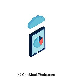 smartphone with cloud computing icon