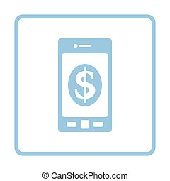 Smartphone with dollar sign icon