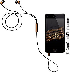 Smartphone With Earphones