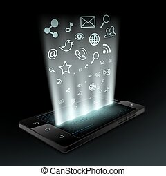 social media. Stock vector illustration.