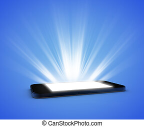 Smartphone with light
