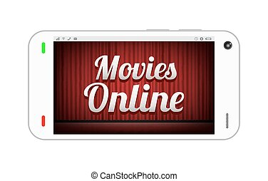 smartphone with movies online