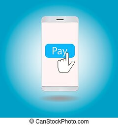 Smartphone with pay button on