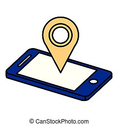 smartphone with pin location