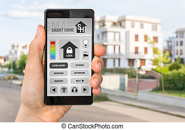 Smartphone with remote smart home control system