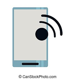 Smartphone with wifi internet signal