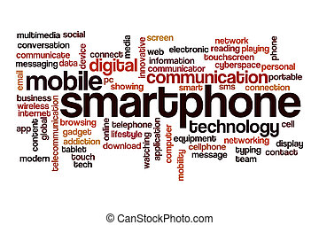 Smartphone word cloud concept