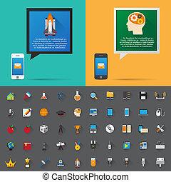 smartphone, y, burbuja, charla, message.