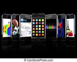 smartphones, apps, używa