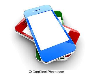 smartphones, coloré