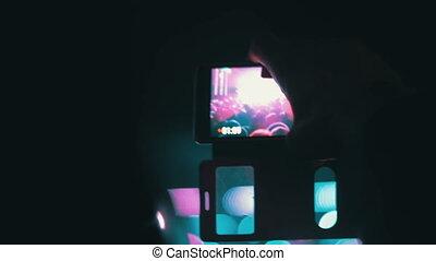 smartphones, concert, foule, festival, filmer, musique