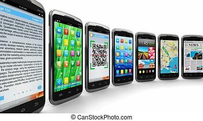 smartphones, i, ruchomy, zastosowania
