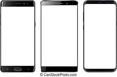 smartphones, mobile, isolé, téléphones