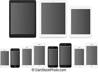 smartphones, tablettes