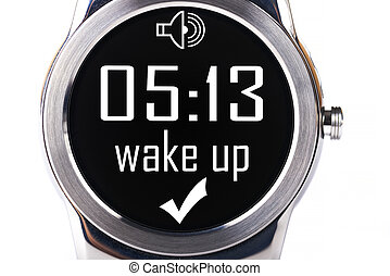 smartwatch, arriba, estela