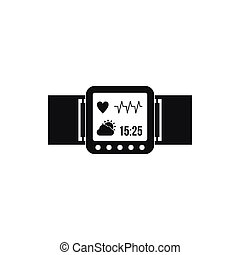 Smartwatch icon in simple style
