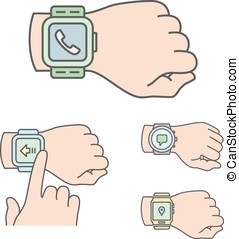Smartwatch illustrations