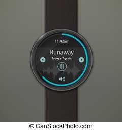 Smartwatch mockup - Smart watch interface template....