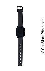 smartwatch, negro
