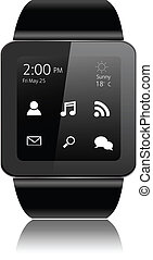 Smartwatch with apps icons