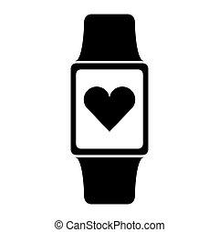 smartwatch with cardio app