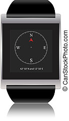 Smartwatch with compass