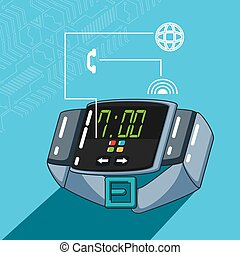 smartwatch with set icons