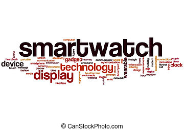Smartwatch concept word cloud background