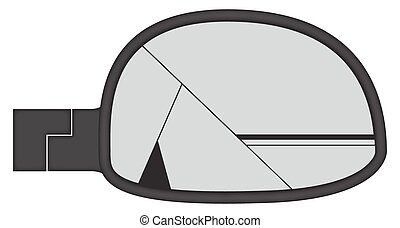 Smashed Chunky Car Side Mirror
