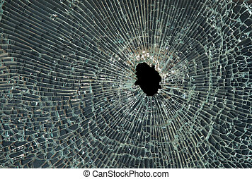 Smashed glass - Smashed up glass