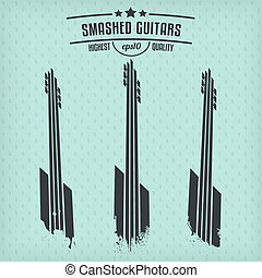 Smashed guitars