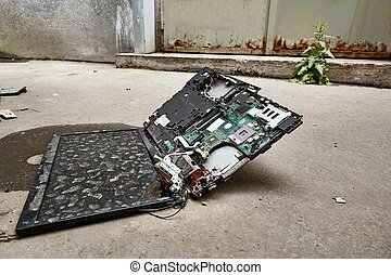 Smashed Laptop Hardware