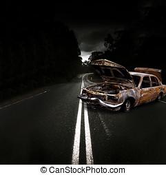 Smashed Up Car Wreck