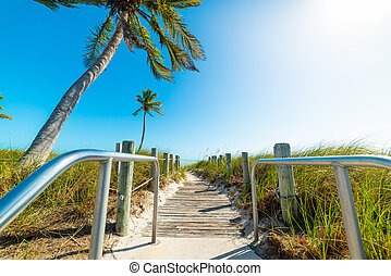 Smathers Beach entrance in Key West