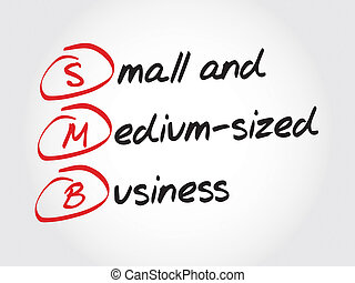 SMB - Small and Medium-Sized Business, acronym business concept