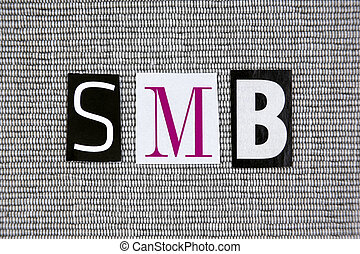 SMB (Small And Medium-sized Business) concept - SMB (Small...