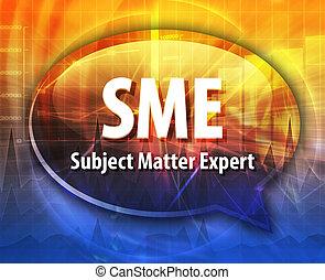SME acronym definition speech bubble illustration - Speech...