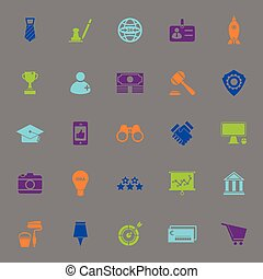 SME color icons on gray background