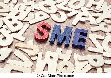 SME - Small and Medium Exterprise wording