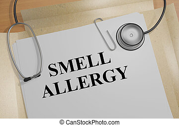 Smell Allergy - medical concept - 3D illustration of 'SMELL...