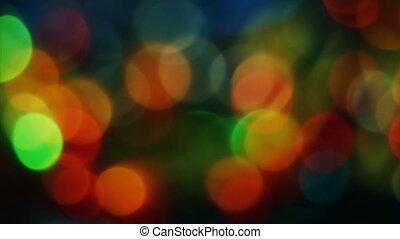 Smell of Christmas fir - Abstract blurred Christmas lights...