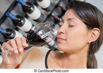 Smelling wine