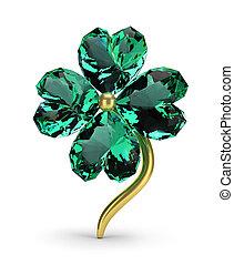 smeraldo, trifoglio