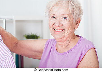 smil, elderly kvinde
